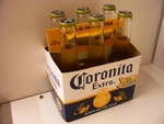 Cerveza Coronita Extra, 7 0z, 6 units case