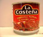 Chipotle Peppers in Adobo Sauce 12oz La Costena