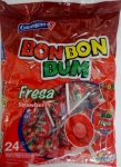 Bon Bon Bum, strawberry flavors, (24) bubble gum p