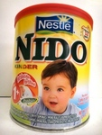 NIDO Milk powder fortified with vitamins minerals.