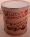Pirucream barquillos rellenos 155gr x8 ship. inclu