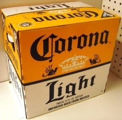 Cerveza Corona light, 12 0z, 24 units case