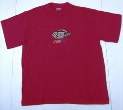 T-shirt Red, Welt ornament  (Colombia)