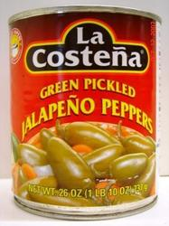 Green Pickled Jalapeno peppers 26oz La Costena