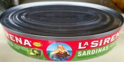 Sardines La Sirena with jalapenos in spicy tomato
