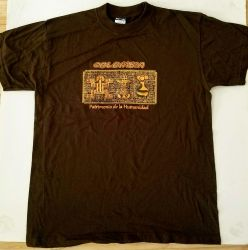 T-shirt Brown, stamp ornament  (Colombia)