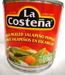 Green Pickled Jalapeno peppers 12oz La Costena