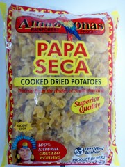 Cooked dried potatoes Papa seca Amazonas