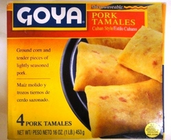 Pork Tamales 4 units Cuban Style Goya